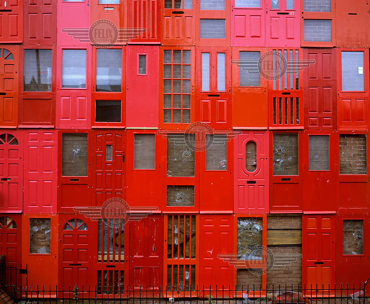 The Red House a piece of public art on Great George Street in a  sc 1 st  Felix Features - PhotoShelter & Red Doors Liverpool England | Editorial picture agency Felix ... pezcame.com