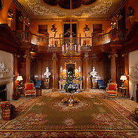 The baroque entrance hall was left unchanged when Decimus Burton remodelled the house in 1836