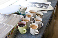 Tea and coffee ready, Art Department , state secondary school.