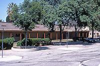 Redlands CA: McKinley School, Redlands--interior court, playground.
