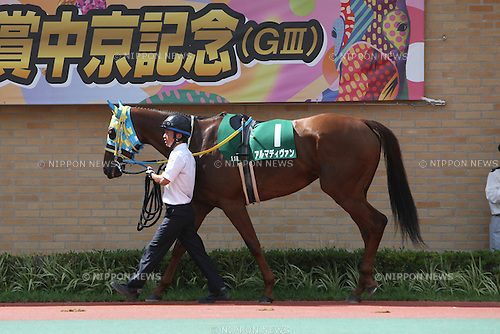 Alma Divin, JULY 26, 2015 - Horse Racing : Alma Divin is led through the paddock before the Toyota Sho Chukyo Kinen at Chukyo Racecourse in Aichi, Japan. (Photo by Eiichi Yamane/AFLO)