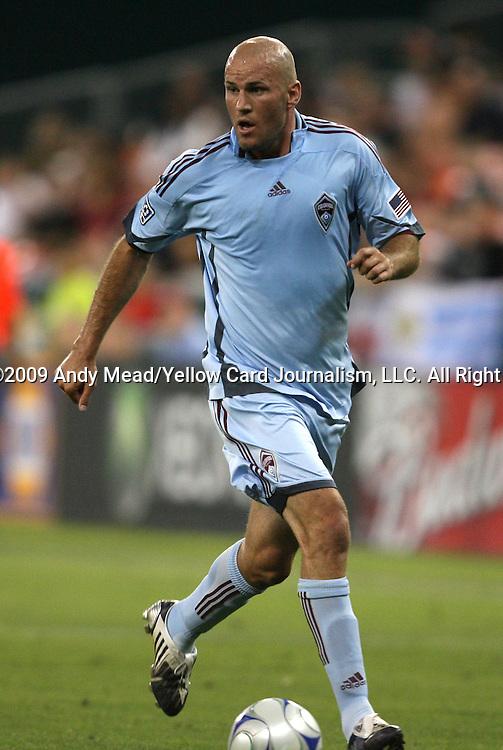18 July 2009: Colorado's Conor Casey. DC United defeated the Colorado Rapids 3-1 at RFK Stadium in Washington, DC in a regular season Major League Soccer game.