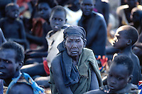 Sudan. South Sudan. Bahr El Ghazal. Yiikou. Christian Solidarity International (CSI) buys back dinka slaves from muslim arab traders. © 1999 Didier Ruef