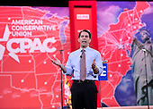 Governor Scott Walker (Republican of Wisconsin) speaks at the Conservative Political Action Conference (CPAC) at the Gaylord National at National Harbor, Maryland on Thursday, February 26, 2015.<br /> Credit: Ron Sachs / CNP
