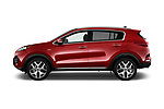 Car driver side profile view of a 2018 KIA Sportage EX 5 Door SUV