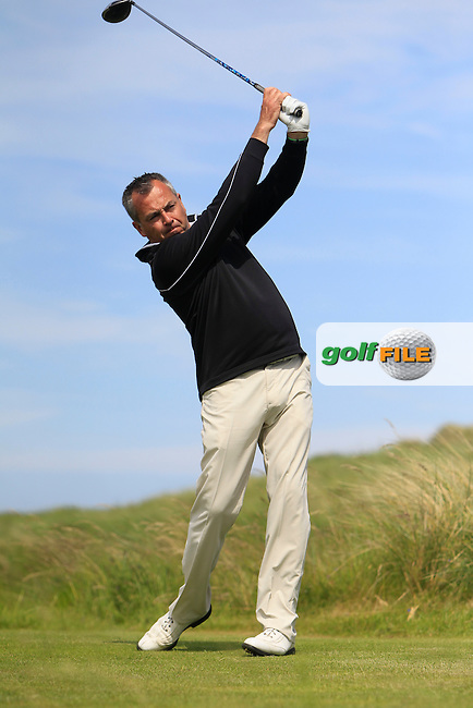 Pat Murray (Limerick) on the 10th tee during Round 4 of the Irish Amateur Close Championship at Seapoint Golf Club on Monday 9th June 2014.<br /> Picture:  Thos Caffrey / www.golffile.ie