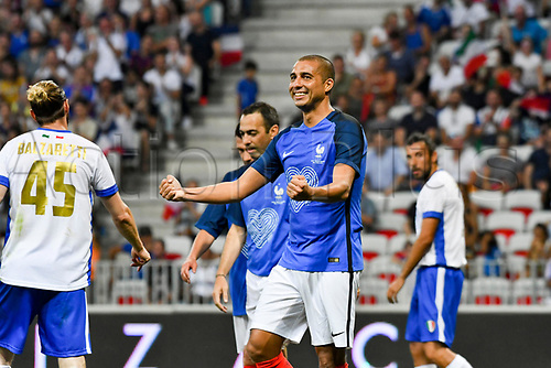 June 17th 2017; Allianz Riviera, Nice, France; Legends football international, France versus Italy;  David Trezeget (France) celebrate their goal