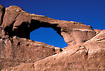 UT: Utah; Arches National Park, Skyline Arch     .Photo Copyright: Lee Foster, lee@fostertravel.com, www.fostertravel.com, (510) 549-2202.Image: utarch203