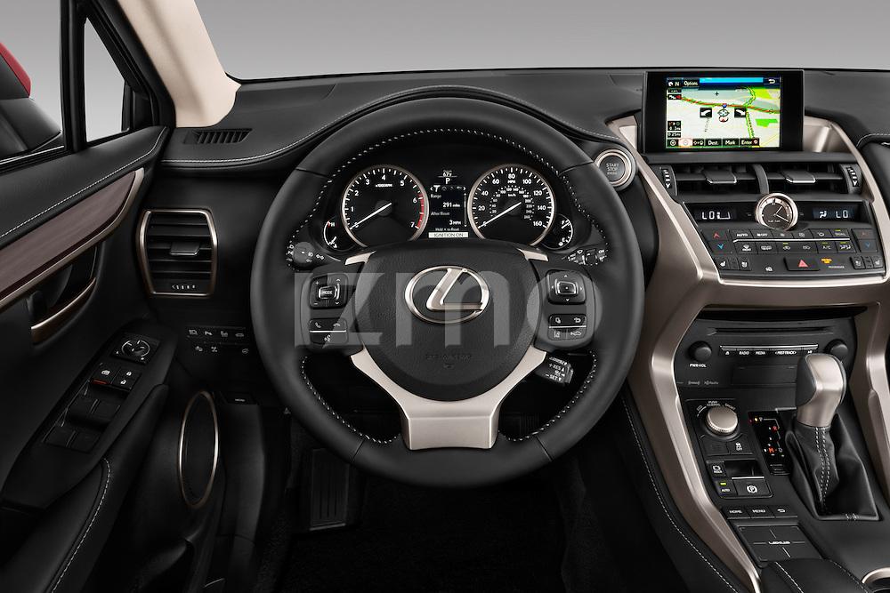Car pictures of steering wheel view of a 2015 Lexus NX NX 200t 5 Door SUV Steering Wheel