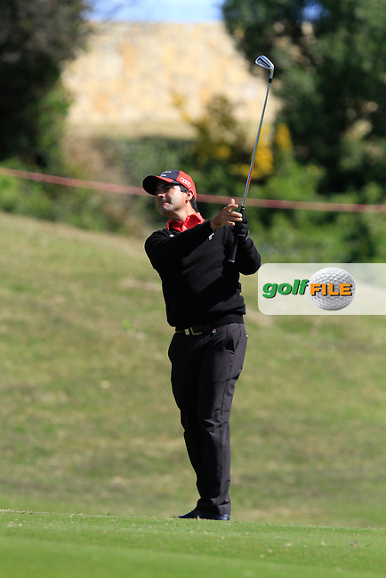 Felipe Aguailar (CHI) during Round 2 of the NH Collection Open at the La Reserva de Sotogrande Club de Golf in Cadiz Spain on Friday 4th April 2014<br /> Picture:  Thos Caffrey / www.golffile.ie
