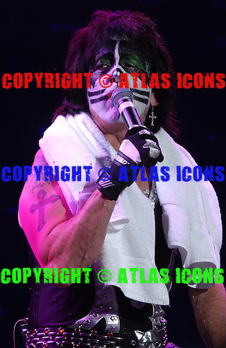 Peter Criss, Drummer of Kiss Performs Performs At Madison Square Garden, In New York City, On .November 17, 2003.Photo Credit: Eddie Malluk/Atlas Icons.com