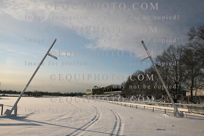 Winter Snow Scene at Monmouth Park in Oceanport, N.J.
