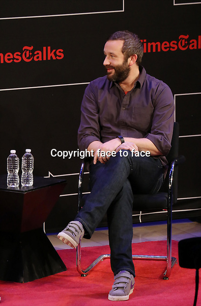 Chris O'Dowd onstage at TimesTalks Presents 'An Evening With James Franco And Chris O'Dowd' at the Times Center on March 7, 2014 in New York City.<br /> Credit: McBride/face to face