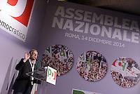 Roma, 14 Dicembre 2014<br /> Assemblea nazionale del Partito Democratico.<br /> Gianni Cuperlo