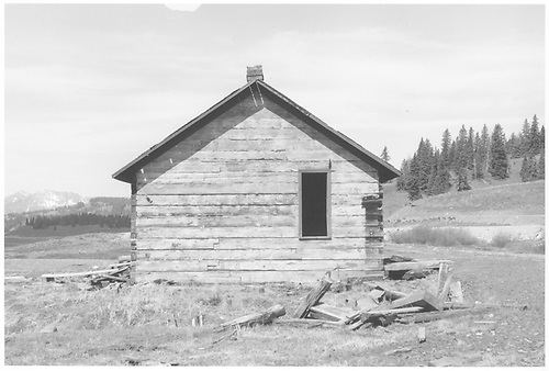 Abandoned RGS section house at Lizard Head Pass.<br /> RGS  Lizard Head, CO  Taken by Graves, William A.