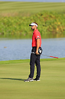 Joost Luiten (NED) during the third round of the NBO Open played at Al Mouj Golf, Muscat, Sultanate of Oman. <br /> 17/02/2018.<br /> Picture: Golffile | Phil Inglis<br /> <br /> <br /> All photo usage must carry mandatory copyright credit (&copy; Golffile | Phil Inglis)