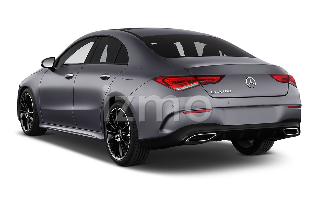 Car pictures of rear three quarter view of a 2020 Mercedes Benz CLA AMG-Line 4 Door Sedan angular rear