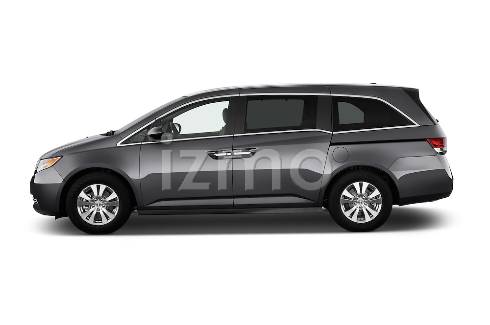 Driver side profile view of a 2014 Honda Odyssey EX-L