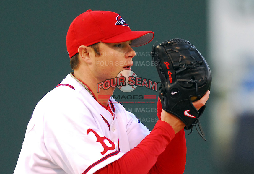 10 April 2007: Jon Lester of the Greenville Drive, Class A affiliate of the Boston Red Sox, during a game against the Columbus Catfish.  Photo by:  Tom Priddy/Four Seam Images