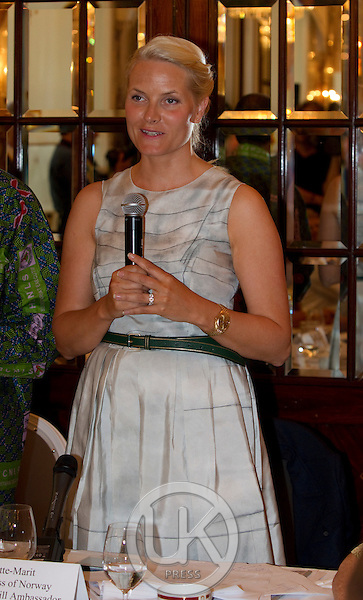 "Crown Princess Mette Marit of Norway on a three day visit to Vienna to attend the 18th International UNAIDS Conference, attends a  Dialogue on "" New Generation Leadership ""  of the "" UNAIDS youth mentorship Hub "" at The Hotel Sacher"