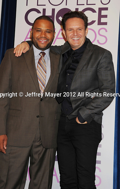 BEVERLY HILLS, CA - NOVEMBER 15: Anthony Anderson, Mark Burnett attend the People's Choice Awards 2013 nomination announcements at The Paley Center for Media on November 15, 2012 in Beverly Hills, California.