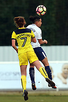 Ella Franklin-Fraiture of Oxford United Ladies and Bianca Baptiste of Tottenham Ladies during Tottenham Hotspur Ladies vs Oxford United Women, FA Women's Super League FA WSL2 Football at Theobalds Lane on 11th February 2018