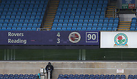 18th July 2020; Ewood Park, Blackburn, Lancashire, England; English Football League Championship Football, Blackburn Rovers versus Reading; a view of the main scoreboard at the end of normal time
