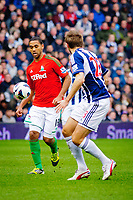 Saturday, 9 March 2013<br /> <br /> Pictured: Luke Moore of Swansea City<br /> <br /> Re: Barclays Premier League West Bromich Albion v Swansea City FC  at the Hawthorns, Birmingham, West Midlands