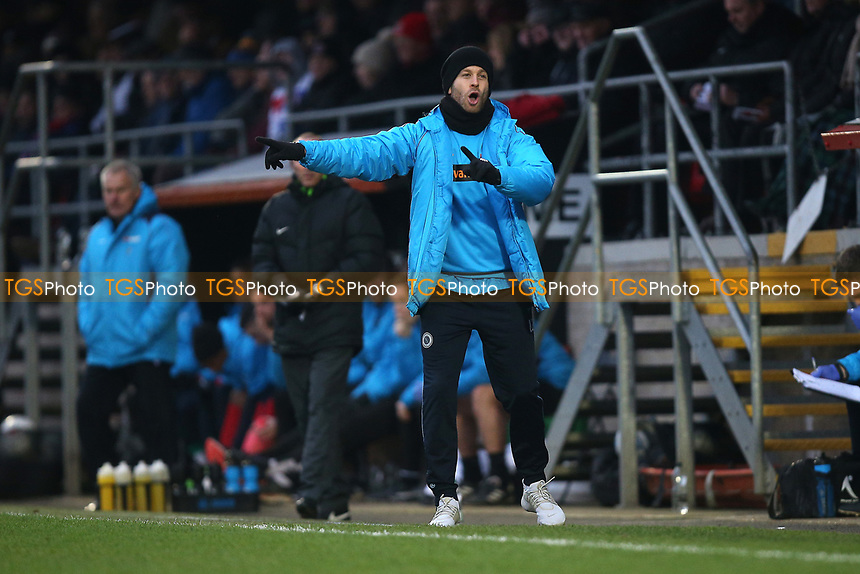 Boreham Wood manager Luke Garrard during Dagenham & Redbridge vs Boreham Wood, Vanarama National League Football at the Chigwell Construction Stadium on 5th January 2019