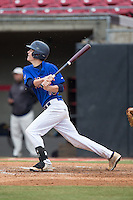 Connor Grant (10) of Blythewood High School in Blythewood, South Carolina playing for the New York Mets scout team at the South Atlantic Border Battle at Doak Field on November 1, 2014.  (Brian Westerholt/Four Seam Images)