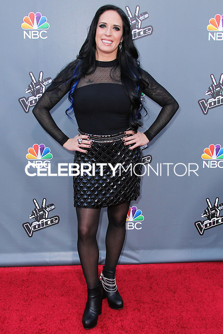 "UNIVERSAL CITY, CA, USA - APRIL 15: Kat Perkins at NBC's ""The Voice"" Season 6 Top 12 Red Carpet Event held at Universal CityWalk on April 15, 2014 in Universal City, California, United States. (Photo by Xavier Collin/Celebrity Monitor)"