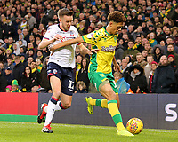 Norwich City's Jamal Lewis shields the ball from Bolton Wanderers' Craig Noone<br /> <br /> Photographer David Shipman/CameraSport<br /> <br /> The EFL Sky Bet Championship - Norwich City v Bolton Wanderers - Saturday 8th December 2018 - Carrow Road - Norwich<br /> <br /> World Copyright &copy; 2018 CameraSport. All rights reserved. 43 Linden Ave. Countesthorpe. Leicester. England. LE8 5PG - Tel: +44 (0) 116 277 4147 - admin@camerasport.com - www.camerasport.com