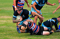 Action from the 2019 Manawatu premier club rugby union match between Feilding Old Boys Oroua and Kia Toa at Johnston Park in Feilding, New Zealand on Saturday, 13 April 2019. Photo: Dave Lintott / lintottphoto.co.nz