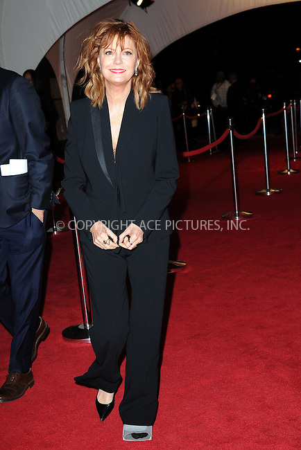 www.acepixs.com<br /> April 19, 2016 New York City<br /> <br /> Susan Sarandon attending arrivals for  'The Meddler' premiere during the 2016 Tribeca Film Festival at John Zuccotti Theater at BMCC Tribeca Performing Arts Center on April 19, 2016 in New York City.<br /> <br /> <br /> Credit: Kristin Callahan/ACE Pictures<br /> <br /> <br /> Tel: 646 769 0430<br /> Email: info@acepixs.com
