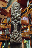 Hawaiian carved wooden deity Kane, Bishop Museum, Honolulu