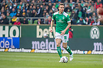 13.04.2019, Weser Stadion, Bremen, GER, 1.FBL, Werder Bremen vs SC Freiburg, <br /> <br /> DFL REGULATIONS PROHIBIT ANY USE OF PHOTOGRAPHS AS IMAGE SEQUENCES AND/OR QUASI-VIDEO.<br /> <br />  im Bild<br /> <br /> Niklas Moisander (Werder Bremen #18)<br /> Einzelaktion, Ganzk&ouml;rper / Ganzkoerper<br /> <br /> Foto &copy; nordphoto / Kokenge