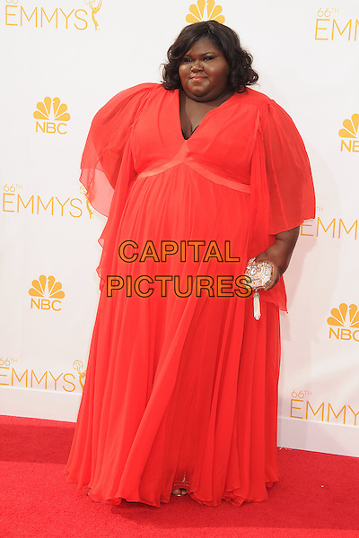 25 August 2014 - Los Angeles, California - Gabourey Sidibe. 66th Annual Primetime Emmy Awards - Arrivals held at Nokia Theatre LA Live. <br /> CAP/ADM/BP<br /> &copy;BP/ADM/Capital Pictures