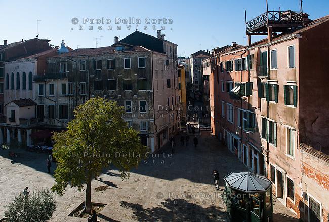 Venezia - Campo del Ghetto Novo visto dall'alto.