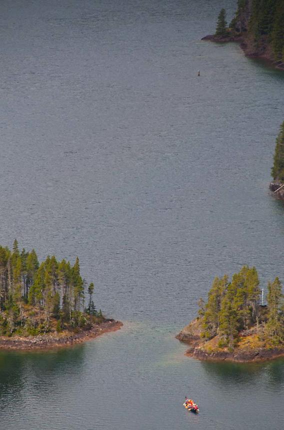 North Cascades Institute Canoe on Diablo Lake, North Cascades National Park, Washington, US
