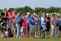 Mick Branigan of Baltray in the crowd at the 17th green during Round 4 of the East of Ireland Amateur Open Championship sponsored by City North Hotel at Co. Louth Golf club in Baltray on Monday 6th June 2016.<br /> Photo by: Golffile   Thos Caffrey