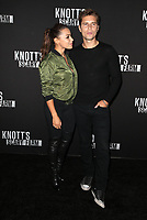 BUENA PARK, CA - SEPTEMBER 29: Jessica Parker Kennedy, Ronen Rubinstein, at Knott's Scary Farm & Instagram's Celebrity Night at Knott's Berry Farm in Buena Park, California on September 29, 2017. Credit: Faye Sadou/MediaPunch