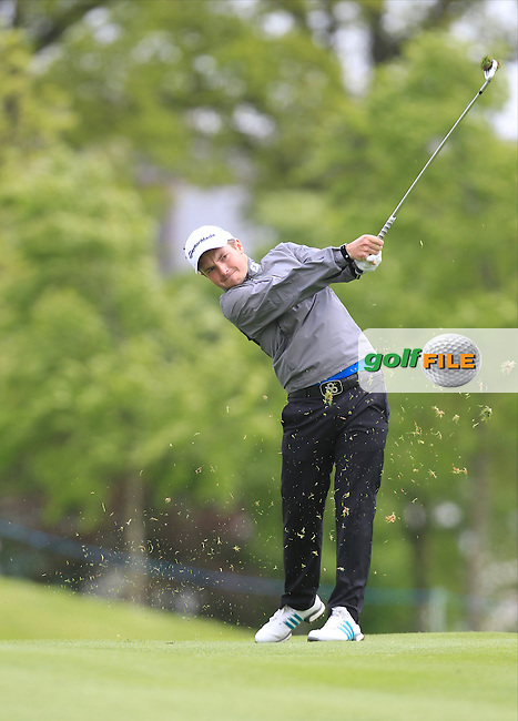 Jack Hume (AM)(IRL) during Thursday's Round 1 ahead of the 2016 Dubai Duty Free Irish Open Hosted by The Rory Foundation which is played at the K Club Golf Resort, Straffan, Co. Kildare, Ireland. 19/05/2016. Picture Golffile | TJ Caffrey.<br />