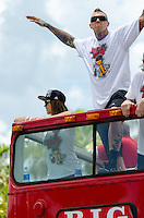 "Chris ""Birdman"" Andersen at Miami Heat NBA 2013 Championship parade, Biscayne Boulevard, American Airlines Arena, Miami, FL, June 24, 2013"