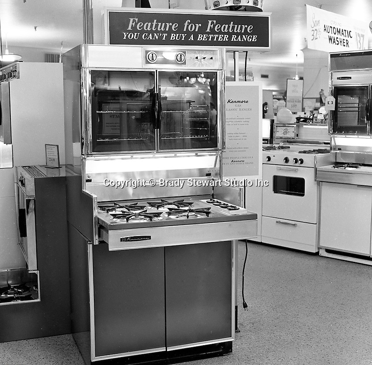 Pittsburgh PA:  Your Cooking with Gas.  On location photography at a Sears Roebuck store at the new Northway Center Mall on McKnight Road in the North Hills