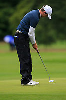 Ben Robinson (ENG) on the 10th green during Round 2 of the Bridgestone Challenge 2017 at the Luton Hoo Hotel Golf &amp; Spa, Luton, Bedfordshire, England. 08/09/2017<br /> Picture: Golffile | Thos Caffrey<br /> <br /> <br /> All photo usage must carry mandatory copyright credit     (&copy; Golffile | Thos Caffrey)