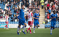 Tom Eastman of Colchester United acknowledges the crowd following his equalising goal during Colchester United vs Stevenage, Sky Bet EFL League 2 Football at the JobServe Community Stadium on 5th October 2019