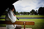 Pix: Shaun Flannery/shaunflanneryphotography.com...COPYRIGHT PICTURE>>SHAUN FLANNERY>01302-570814>>07778315553>>..19th June 2011...............Cricket, Sprotbrough Under 9's play under dull grey skies..Spectators take cover from the rain..