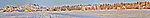 Panorama taken of the houseboats frozen into the ice in Yellowknife Bay in January. Original file is 96 MB.