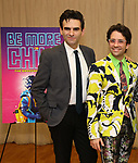 """Joe Iconis and Chase Brock during the """"Be More Chill"""" Press Preview Presentation at Pearl Studios on January 23, 2019 in New York City."""