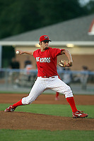 August 3rd 2008:  Pitcher Jameson Maj of the Batavia Muckdogs, Class-A affiliate of the St. Louis Cardinals, during a game at Dwyer Stadium in Batavia, NY.  Photo by:  Mike Janes/Four Seam Images